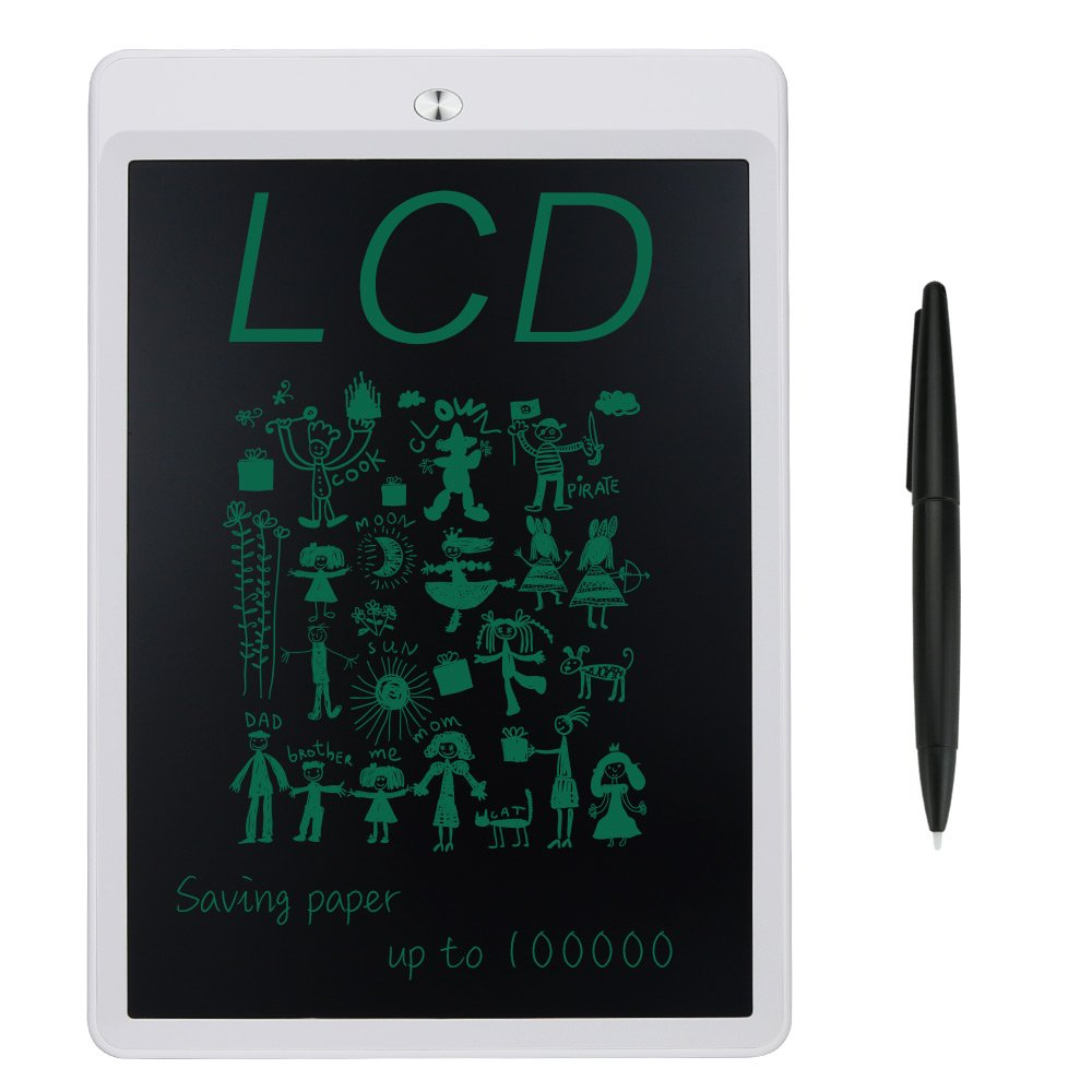 YC-tech LCD Writing Tablet 10 Inch Digital Writing Board Portable Drawing Pads for School Kids, Office, Home (White)