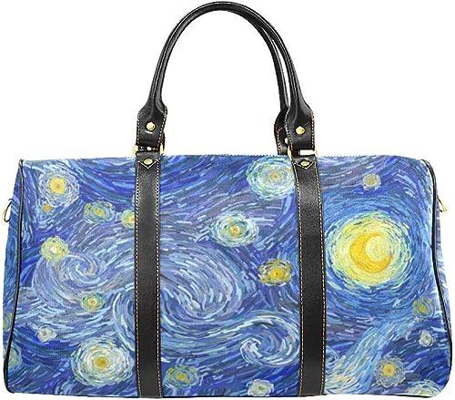 Starry Night 21 Large Travel Duffel Bag Waterproof Weekend Bag with Strap