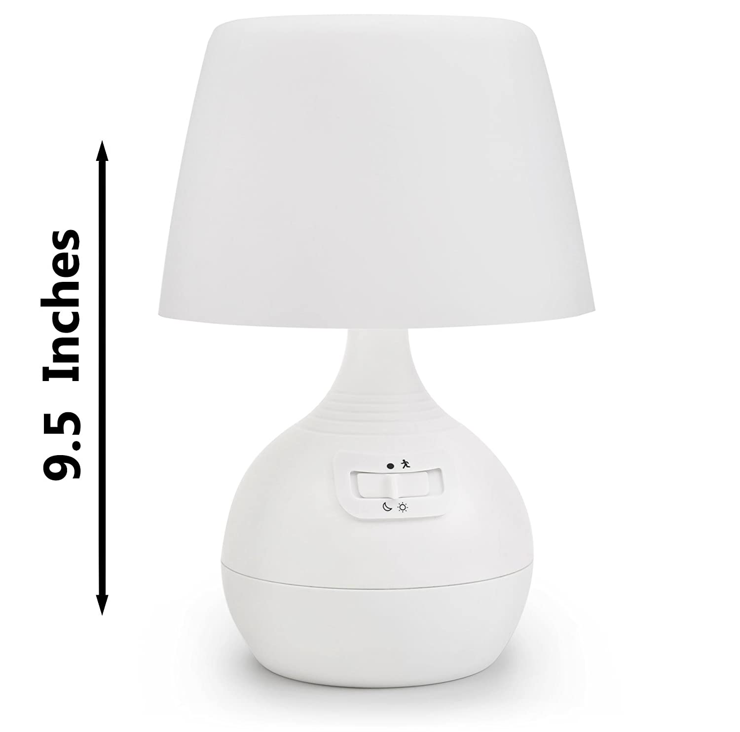 Ivation 12 led battery operated motion sensing table lamp dual ivation 12 led battery operated motion sensing table lamp dual color range available settings include manual automatic motion light sensing geotapseo Choice Image