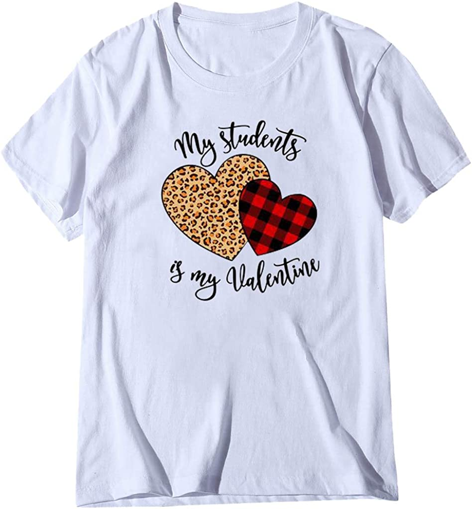 FELZ Camisetas Basicas Mujer CorazóN De San ValentíN Impreso ...