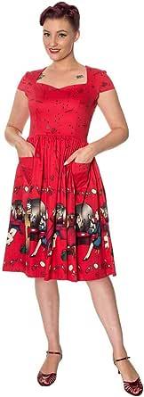 Banned Vanity Plus Size Vintage Retro Vestido - Rojo o Negro