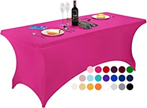 Spandex Table Covers, 6 ft/4 ft/8 ft/5 ft Spandex Table Cloth , Rectangular Stretch Table Cover for Folding Table by FELIZEST