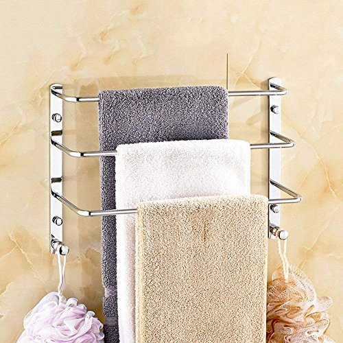 DEED Shelf-All Copper Solid Towel Rack Ladder-Style Third Gear Gold Towel Rack European-Style Three Towel Rack Bathroom Hardware Wall Hanging - Stairs Accessories