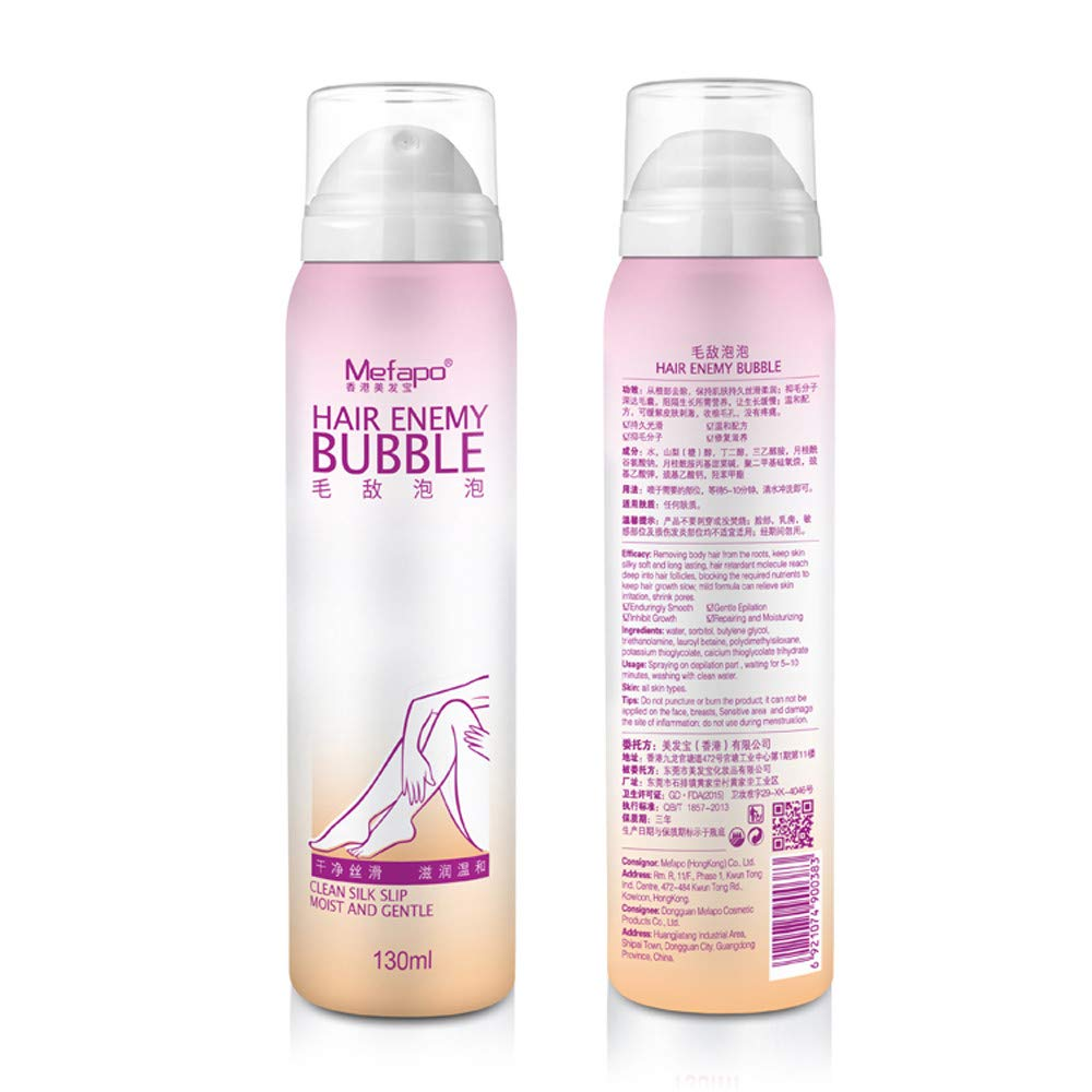 2 Pack Unisex Painless Depilatory for Women and Men No Damage No Pain Anti Allergic Mousse Spray Foam Mousse Creams Depilatories Flawless Body Legs Chest Hair Mane Remove Depilation Creams Y56(TM)