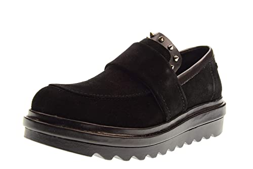 ALTRAOFFICINA Zapatillas Mocasines para Mujer con Plataforma T2502G. Talla 36 Negro