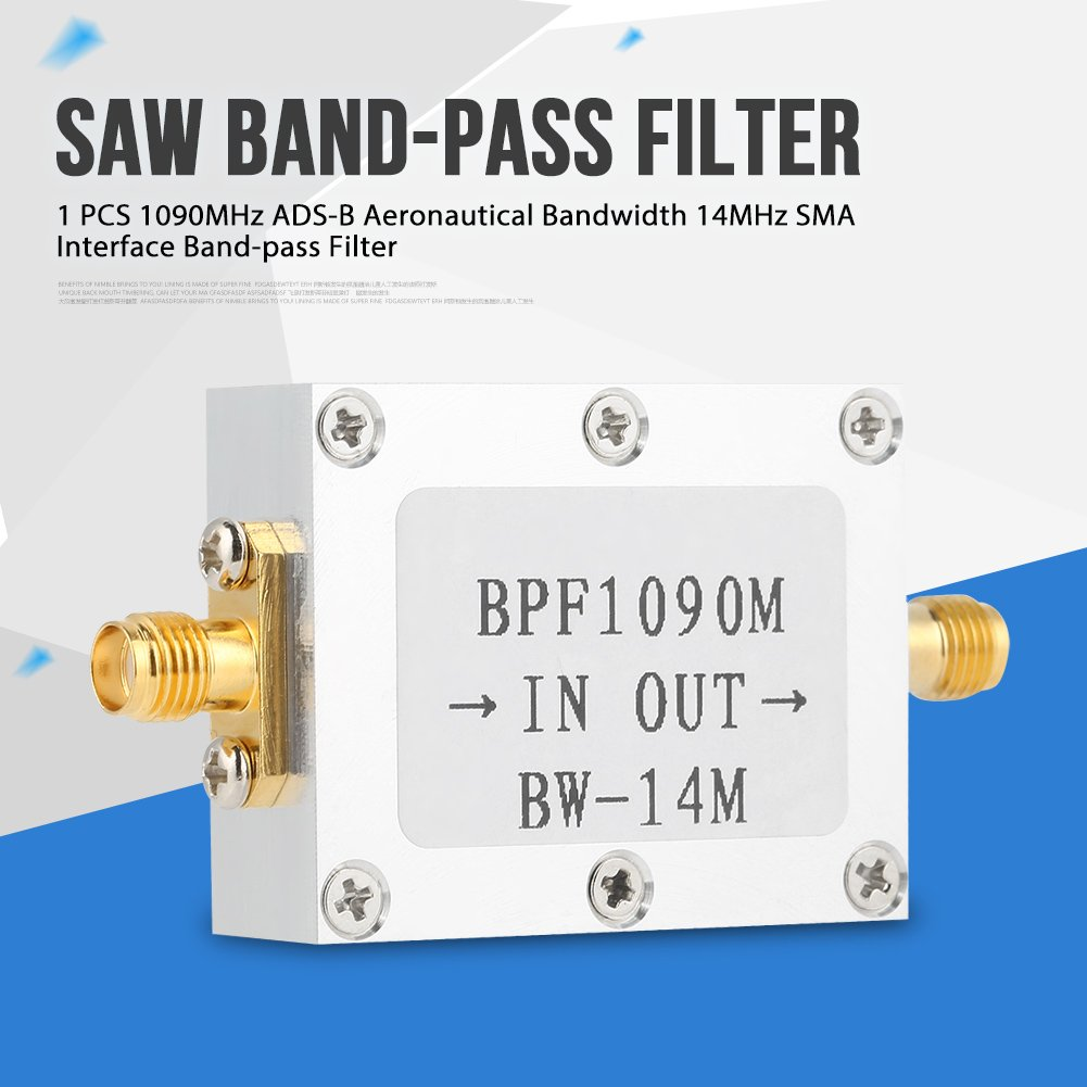 Audio & Video Accessories Interface Band-Pass Filter 1090MHz ADS-B Aeronautical Bandwidth 14MHz SMA Interface Band-Pass Filter