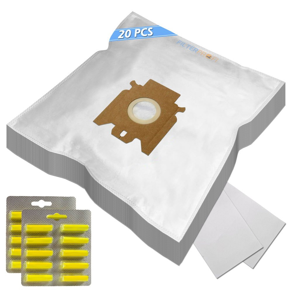 SUPER KIT - 20 Sacchi / Sacchetti (Microfibra) + 20 PROFUMI + 2 Filtri Per aspirapolvere Hoover H60 Filterprofi