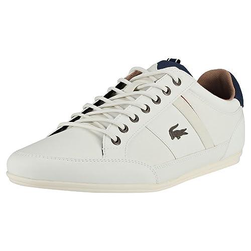 Lacoste Chaymon 118 2 CAM0012WN1, Zapatillas para Hombre, Mehrfarbig (White 001), 41 EU: Amazon.es: Zapatos y complementos