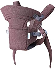 Ergonomic Baby Carrier, Premium & Adjustable Front and Back Child Carrier, Supports Your Baby's Head and Neck (Brown)