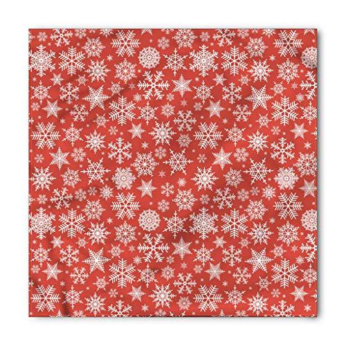 Snowflakes Bandana - Ambesonne Christmas Bandana, Various Snowflakes Winter, Unisex Head and Neck Tie
