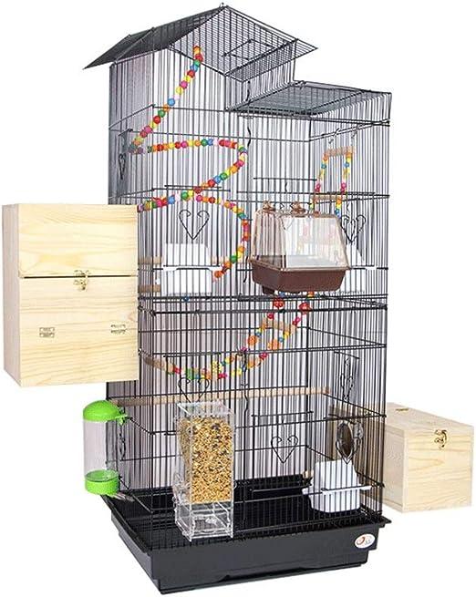 Jaula Para loro Tejado de metal grande jaula de pájaro de la jaula del loro grande