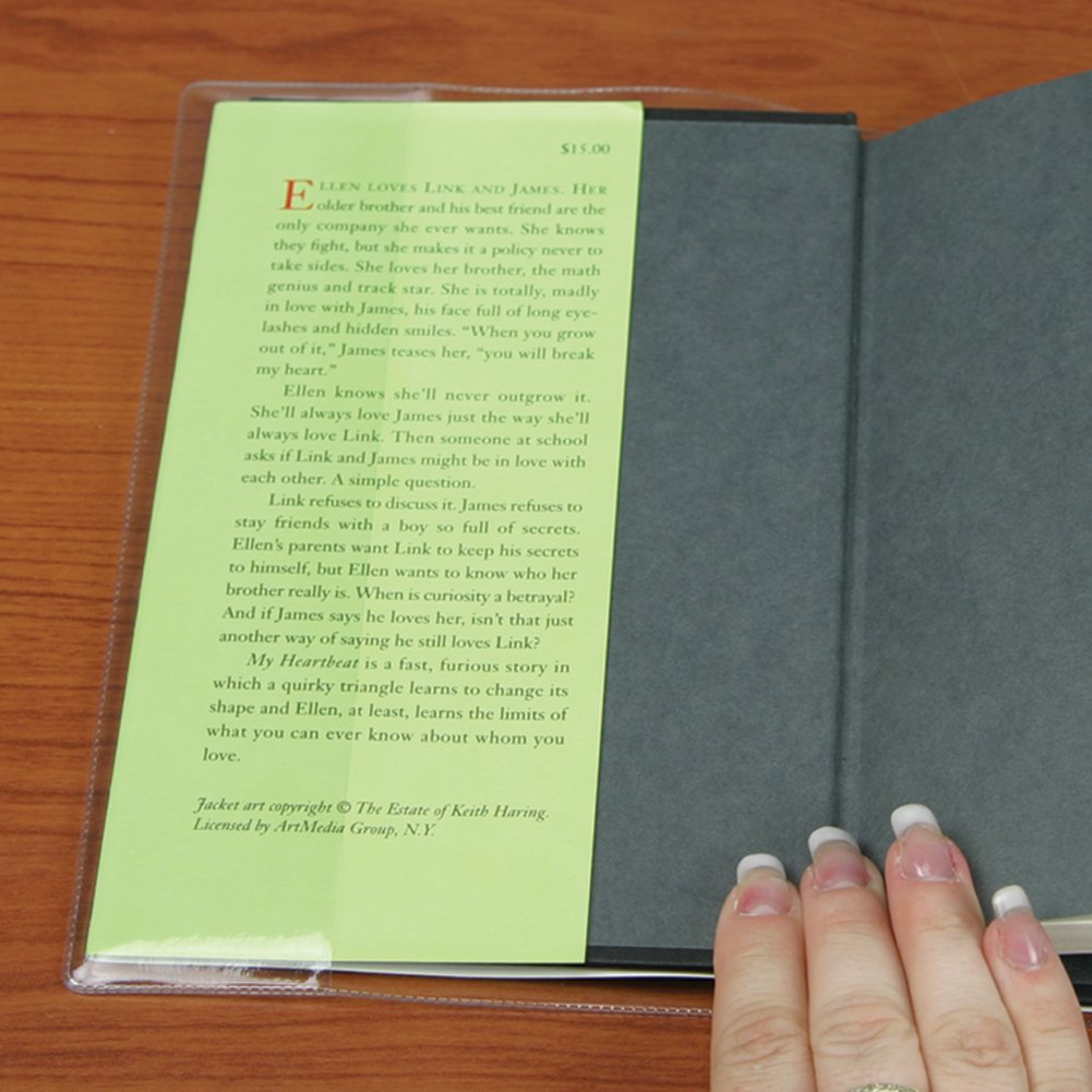 The Library Store Vista Gloves Adjustable Slip On Book Covers Fits Book up to 8 5//8 inches H 10 Pack