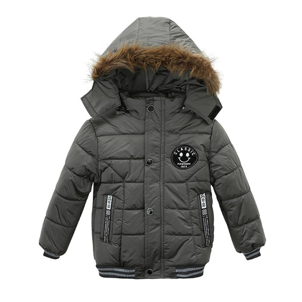 7e7711420 Tenworld Toddler Baby Boys Winter Outerwear Cotton-Padded Hooded ...