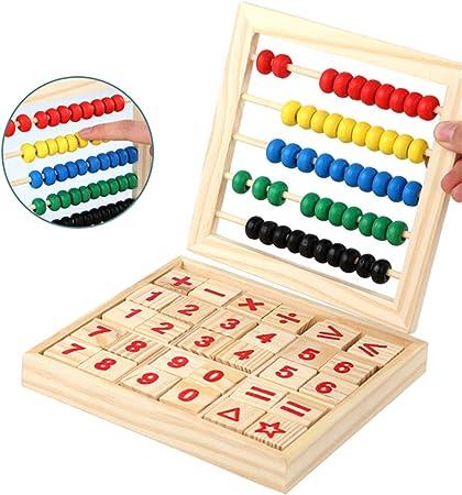 qingqingR Ábaco de Madera Niños Niños Contando Número Matemáticas Aprendizaje Juguete: Amazon.es: Hogar