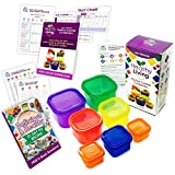 Healthy Best Deals - Healthy Living 7 Piece Portion Control Containers Kit with COMPLETE GUIDE, Multi-Colored Coded System, 100% Leak Proof - Comparable to 21 Day Fix!