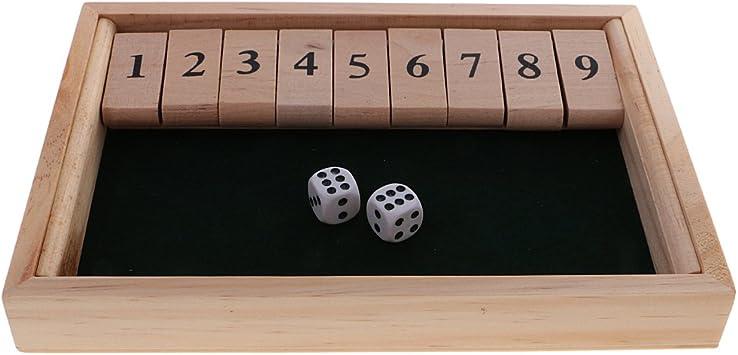 sharprepublic Shut The Box Juego De Mesa Número De Set Juegos De Beber Party Club Family: Amazon.es: Juguetes y juegos