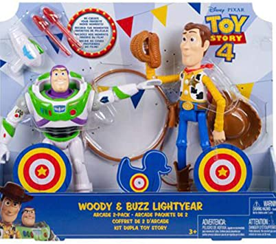 Toy Story 4 Woody and Buzz Lightyear Arcade 2 Figuras Pack: Amazon ...