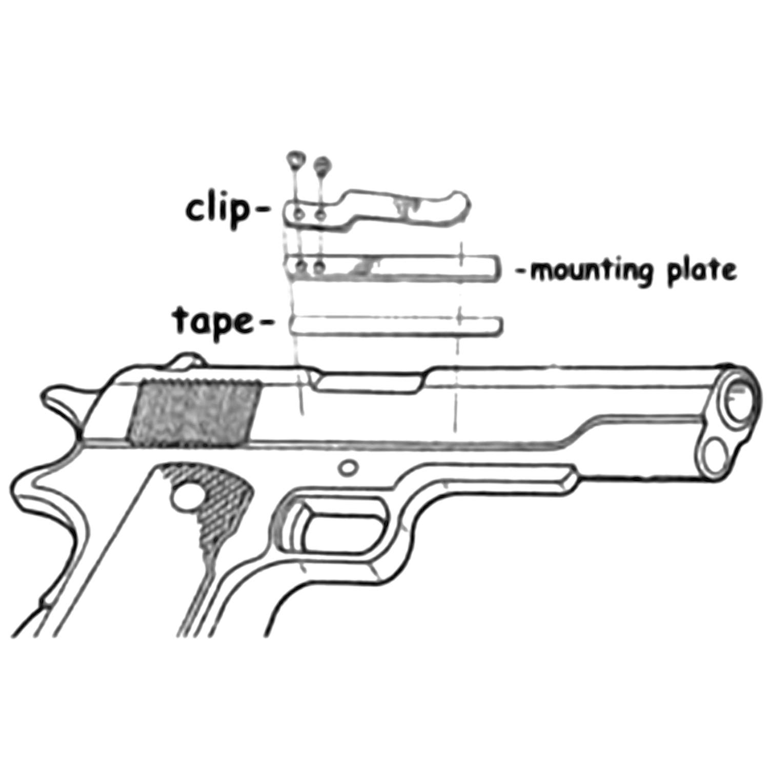 Clipdraw Sa B Universal Gun Holster Black Sports Glock Pistol Parts Diagram Color Coded Showing Frame Pins Springs Outdoors