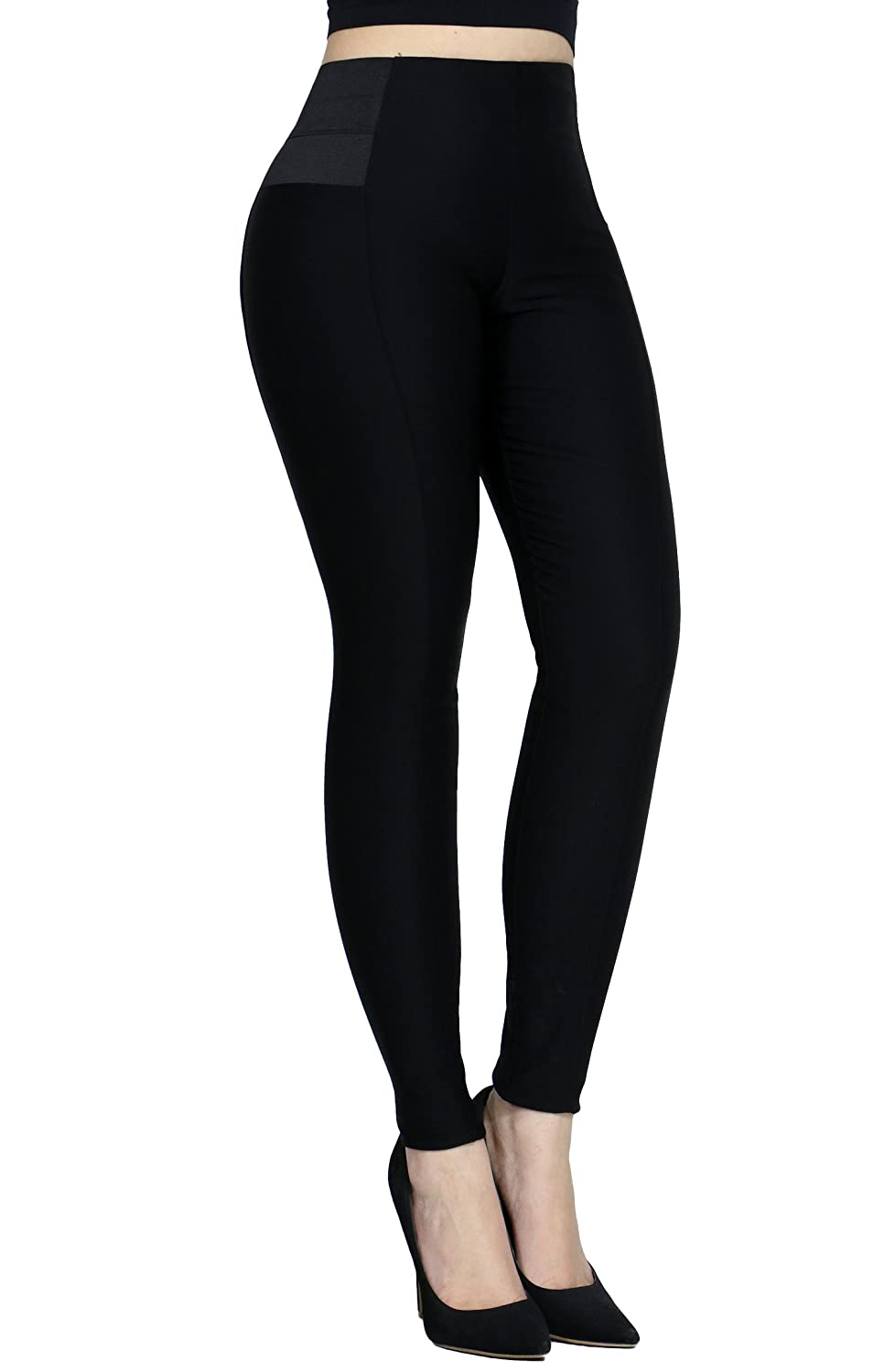 Women's Sexy Stretchy Slimming Soild Casual Dress Pants With Side Elastic Band