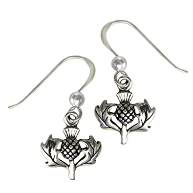 ed931f52b Image Unavailable. Image not available for. Color: Sterling Silver Scottish  Thistle Earrings