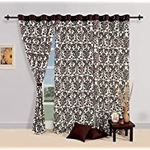 Yuga Home Décor Printed Pure Cotton Premium Eyelets Door Curtain 54 X 90 Inches- 1Pc