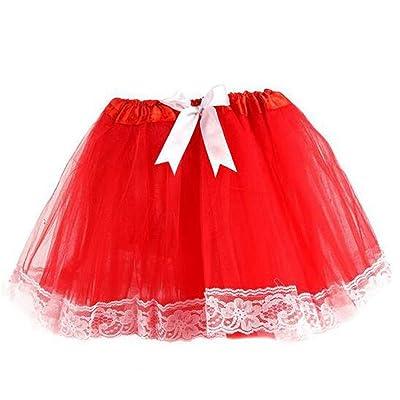 Lucky staryuan ® Girls Lace Tutu Skirt Dance Dress Net Yarn Skirt
