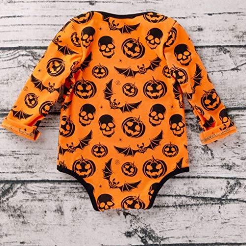 Girl Romper Dot Baby Tout Print nourrisson Jumpsuit Orange Automne citrouille petit Snowflake xwRHdXqH4