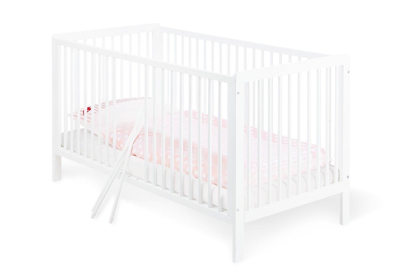 Pinolino - 11 14 75 - Kinderbett Lenny 140 x 70 cm - mit 3 Schlupfsprossen aus vollmassiver Kiefer, weiß lackiert 111475