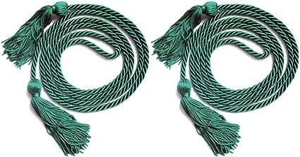 MUTOCAR 2 PCS Single Color Graduation Honor Cord,Dark Green