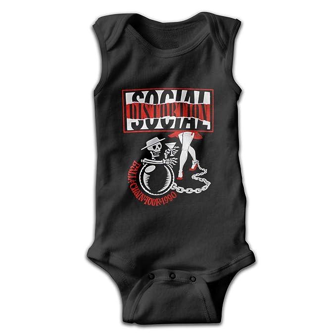 eb843ef10 MeredithBush Social Distortion Music Band Sleeveless Baby Bodysuit  Lightweight Baby Newborn Infant Onesie 45 Gift Black