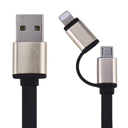Erfula - Cable de Carga USB 2 en 1, Compatible con Cable ...