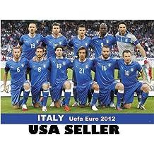 Italy 2012 team photo POSTER 34 x 23.5 UEFA Euro soccer football Italian competitors Cristiano Zanetti Marco Delvecchio Christian Vieri (sent FROM USA in PVC pipe)