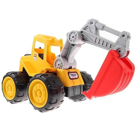 D DOLITY Juguete de Modelo Inercial de Vehículo de Ingeniería de Plástico con Ruedas de Goma