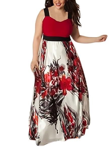 Mujer Vestidos De Fiesta Largos De Noche De Verano Sin Mangas Sencillos Especial Moda Vintage Hippie Flores Vestido Largo Vestidos Tallas Grandes Mujer ...