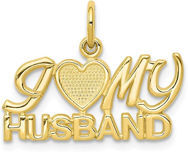 I LUV MY HUSBAND Chain w//Pendant Sterling Silver Talking Necklace