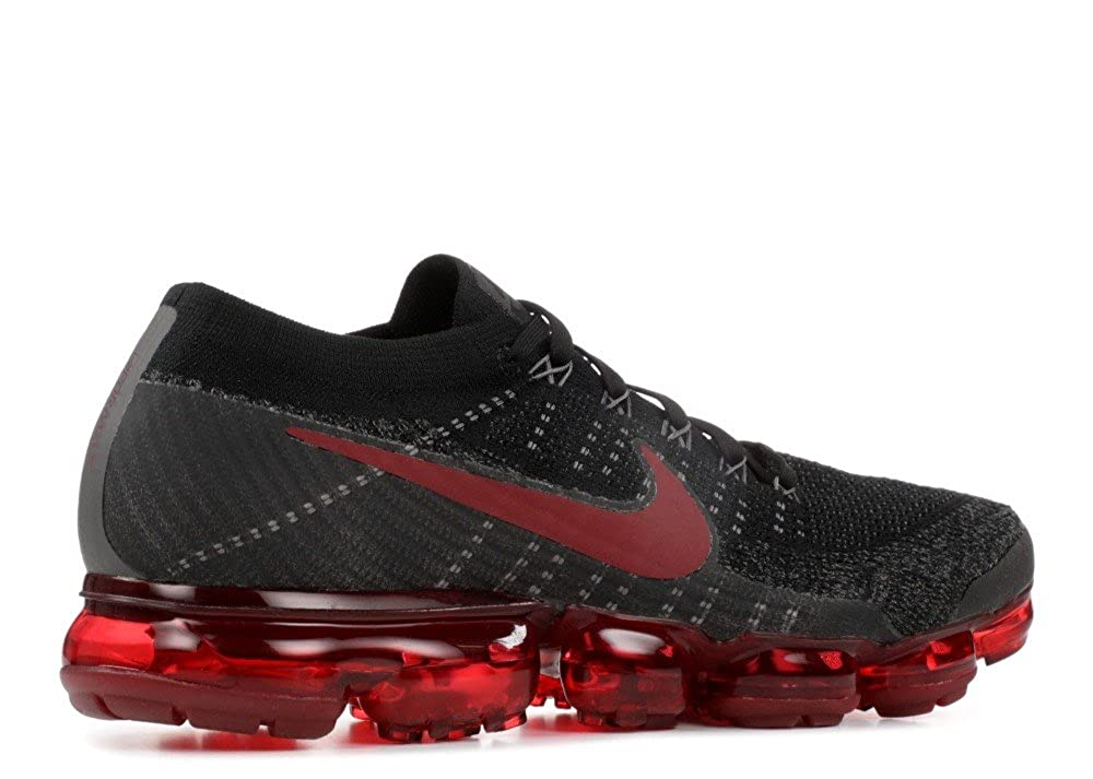 new concept a58aa 24f8c Nike Men s Air Vapormax Flyknit Black Dark Team Red Midnight Fog Knit Running  Shoes 11 D(M) US  Buy Online at Low Prices in India - Amazon.in