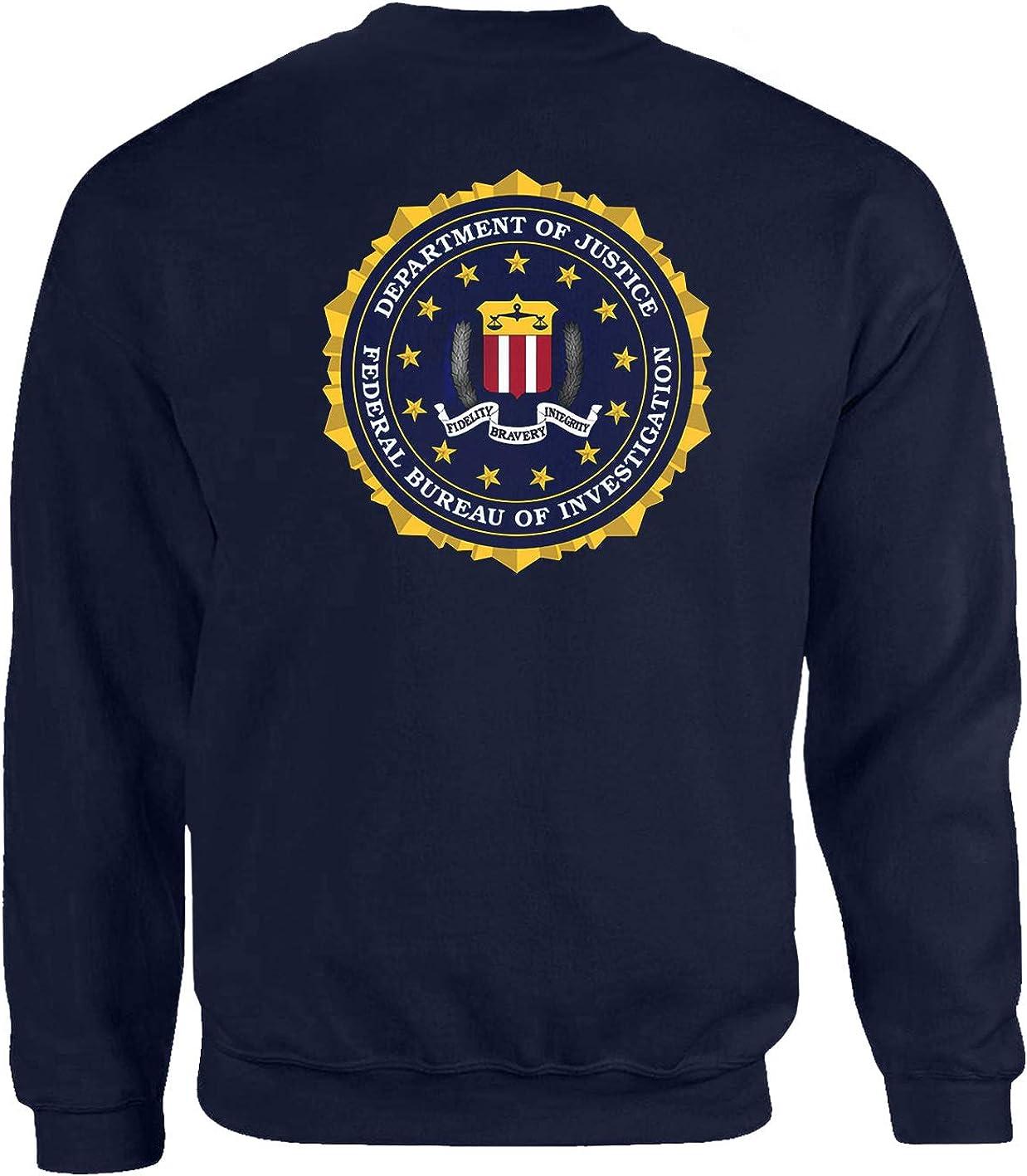 Tex-Ha FBI Polizei LKA USA CSI CIS Navy USA DEA Mafia Am/érique BKA Kripo Logo Bleu Sweat-shirt