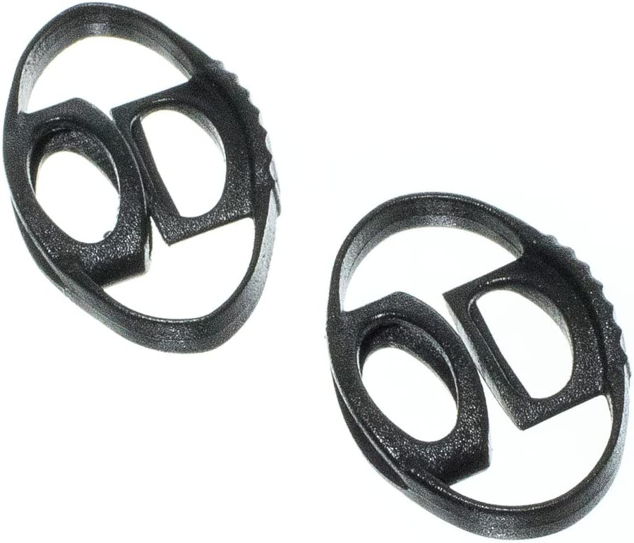 Dual Lock for 1//8 inch Cord PARACORD PLANET Dual Circle Cord Lock Plastic Spring Stop Toggle