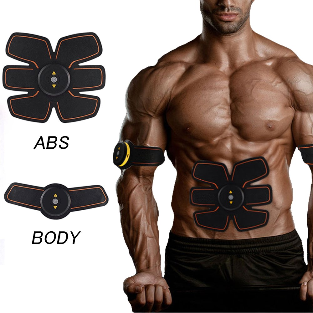 Home Fitness Training Gear Jannychen Waist Trimmer Belt Abs Fit Training ABS Toner Body Muscle Trainer Abs fit+Body fit New Version 2017 Unisex Fitness Training Gear Abdominal Toning Belt