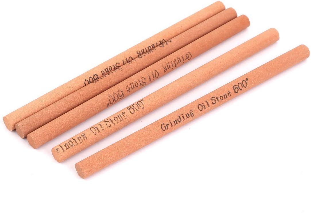 600 Round Bead Sharp Rod Sharp Oil Stone Sharpening Stone 5Pcs,
