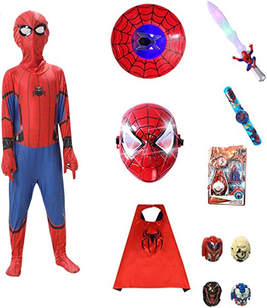 HUIHONG Boys Comics Spiderman Homecoming Childrens Party Jumpsuit ...