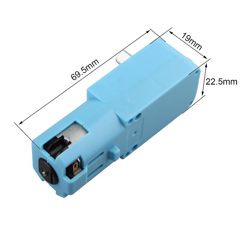 HALJIA Lot de 2 moteurs TT intelligents pour voiture Arduino DC3V-6V DC Moteur /à engrenages intelligent de voiture /à quatre conducteurs