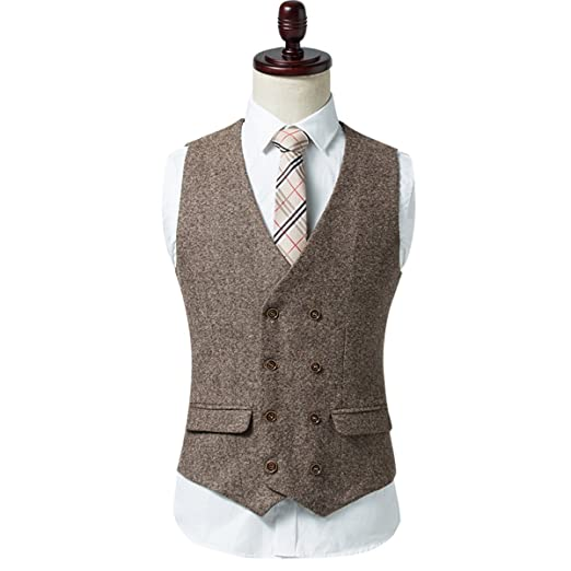 1920s Style Mens Vests Cloudstyle Mens Suits Vest Button Slim Fit Skinny Wedding Dress Vest Formal Business $25.99 AT vintagedancer.com