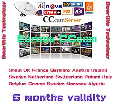 Best Europe CCcam Cline Server 6 months for Satellite Decoder Spain UK Germany France Poland Austria Free: Amazon.es: Electrónica