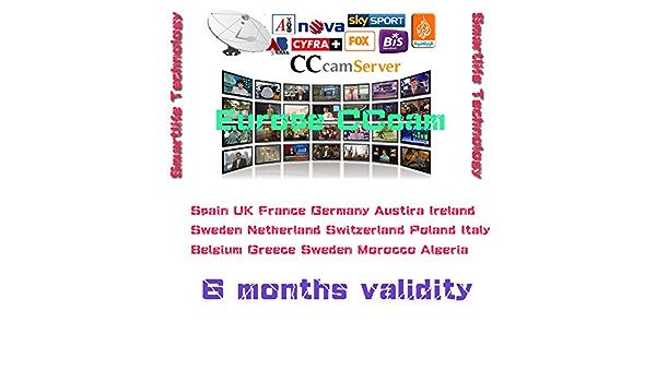 Best Europe CCcam Cline Server 6 months for Satellite Decoder Spain UK Germany France Poland Austria Free: Amazon.es: Electrónica