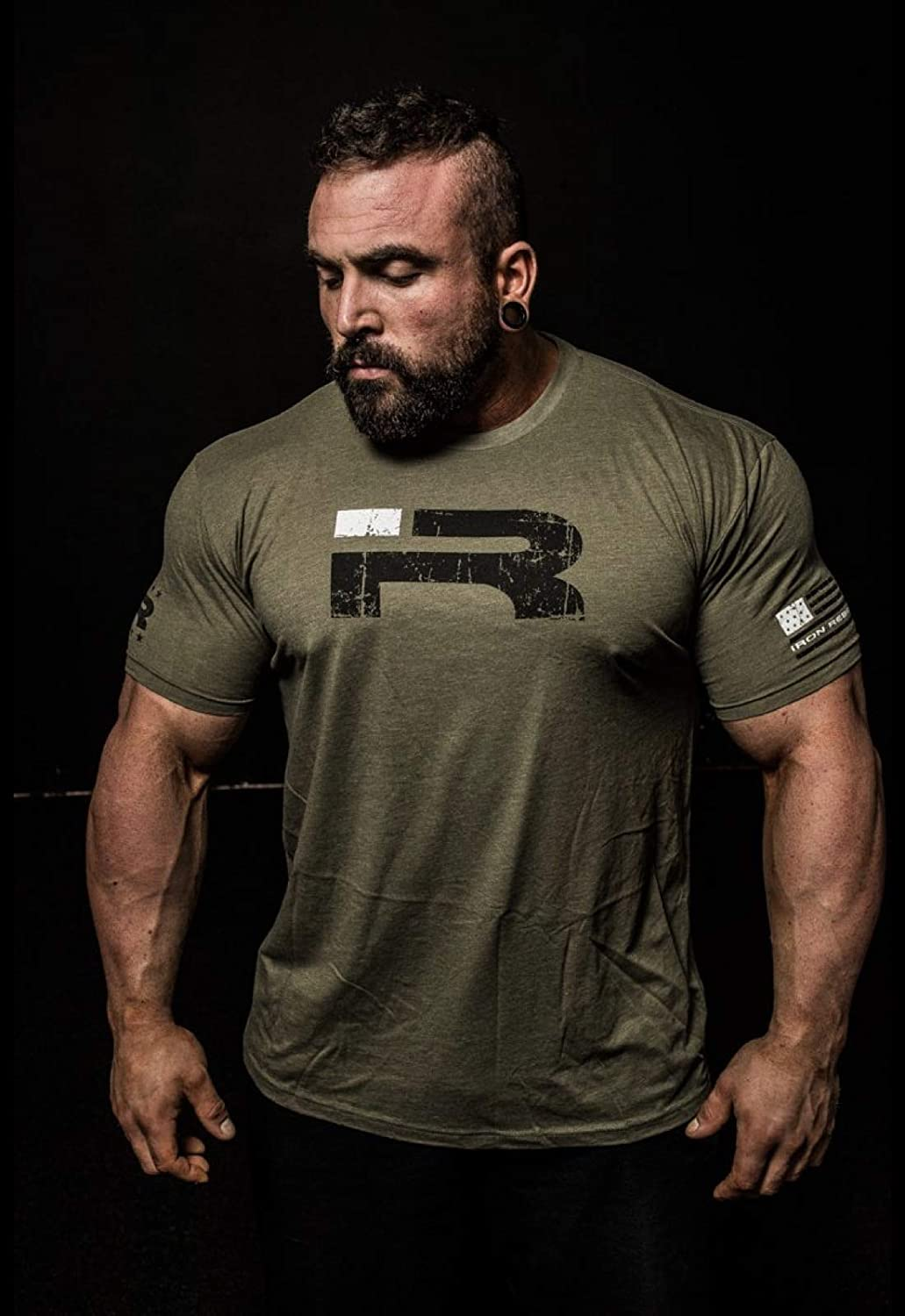 2c800c8a6 Iron Rebel - Ready for War - Men's T-shirt (Army Green) -M: Amazon.co.uk:  Sports & Outdoors
