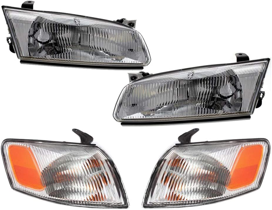 Driver and Passenger Sides 81150AA010 81110AA010 81520AA010 81510AA010 4-Piece Epic Lighting OE Fitment Replacement Headlight Signal Marker Light Combo Set Compatible with 1997 1998 1999 Camry