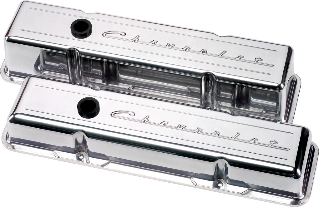 Billet Specialties 95223 Script Tall Valve Cover for Small Block Chevy by Billet Specialties