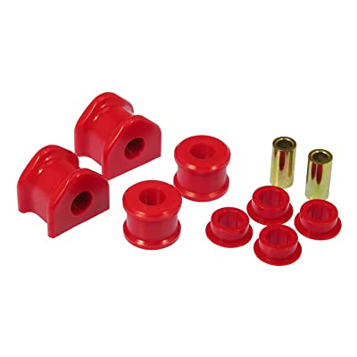 Prothane 6-1162 Red 20 mm Rear Sway Bar Bushing Kit with End Links: Automotive