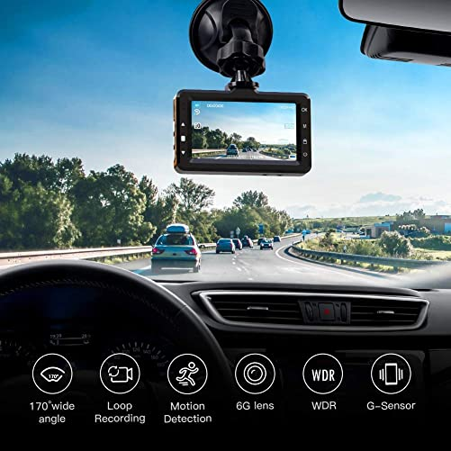 APEMAN Dash Cam FHD 1080P Car Camera with Metal Design,2.0 inch LCD Screen,170 Wide Angle,Night Vision,Loop Recording,G-Sensor,Motion Detection